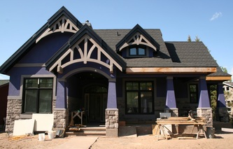 Timber Accent Trusses
